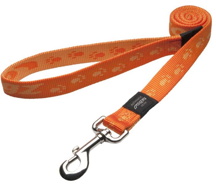 Поводок для собак Rogz Alpinist, удлиненный, цвет: оранжевый, ширина 2,5 см. Размер XL поводок для собак rogz alpinist удлиненный цвет коричневый ширина 2 5 см размер xl hll27j