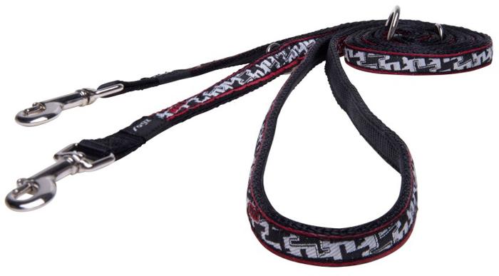 Поводок-перестежка для собак Rogz Fancy Dress, цвет: черный, белый, ширина 1,1 см. Размер S поводок для собак rogz fancy dress удлиненный цвет черный ширина 2 5 см размер xl