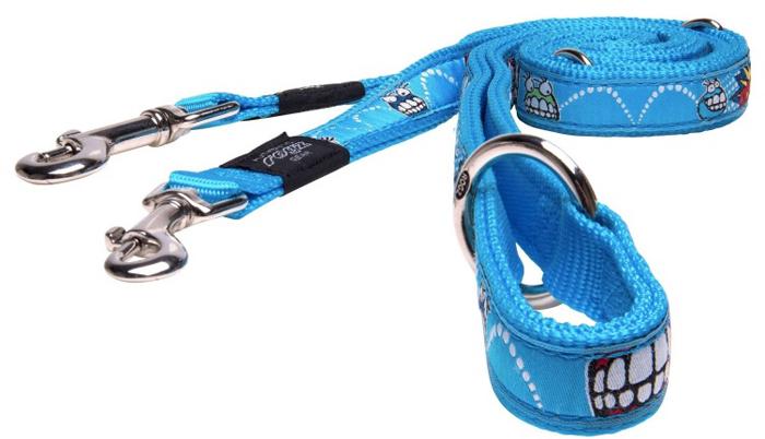 Поводок-перестежка для собак Rogz Fancy Dress, цвет: голубой, ширина 2 см. Размер L поводок для собак rogz fancy dress удлиненный цвет черный ширина 2 5 см размер xl