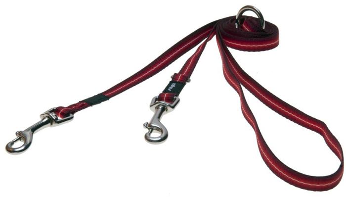 Поводок-перестежка для собак Rogz Pavement Special, цвет: красный, ширина 1,1 см. Размер S. HLM10C rogz поводок перестежка для собак rogz pavement special s 11мм 2 м красный