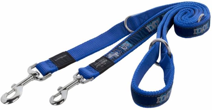Поводок-перестежка для собак Rogz Fancy Dress, цвет: фиолетовый, ширина 1,6 см. Размер M. HLM12BP поводок для собак rogz fancy dress удлиненный цвет черный ширина 2 5 см размер xl