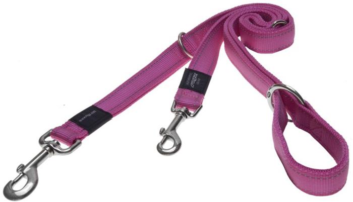 Поводок-перестежка для собак Rogz Utility, цвет: розовый, ширина 1,1 см. Размер SHLM14KПоводок-перестежка изготовлен из очень мягкого, но прочного нейлона, который не причинит неудобства собаке. Высококачественная тесьма особого плетения, удивительно мягкая на ощупь.Все соединения деталей имеют специальную дополнительную строчку для большей прочности.Выполненные по заказу литые кольца выдерживают значительные физические нагрузки и имеют хромирование, нанесенное гальваническим способом, что позволяет избежать коррозии и потускнения изделия.Многофункциональный поводок-перестежку можно использовать как: поводок для двух собак; короткий, средний или удлиненный поводок (1 м, 1.3 м, 1.6 м); поводок через плечо; временную привязь.