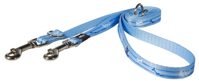 Поводок-перестежка для собак Rogz Yo Yo, цвет: голубой, ширина 1,6 см. Размер M поводок для собак rogz yo yo цвет голубой ширина 1 2 см размер m