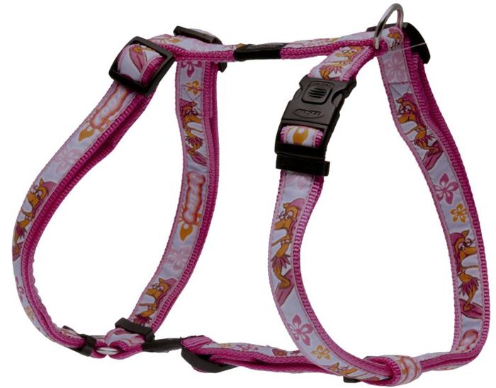 "Шлейка для собак Rogz ""Fancy Dress"", цвет: розовый, ширина 2,5 см, обхват шеи 43-70 см, обхват груди 60-100 см. Размер XL. SJ02K"