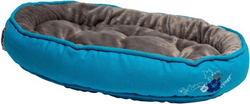 Лежак для кошек Rogz Snug Podz, цвет: голубой, 40 x 32 x 8 см лежак для собак rogz lounge pod flat со съемным чехлом цвет бежевый 83 x 56 x 8 см