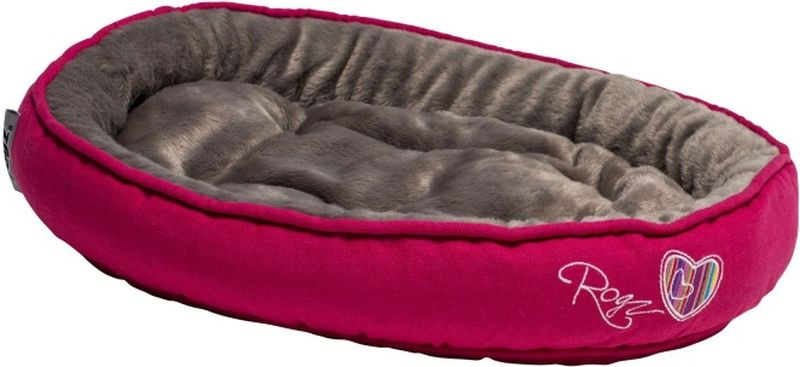 Лежак для кошек Rogz Snug Podz, цвет: темно-розовый, 40 x 32 x 8 см лежак для собак rogz lounge pod flat со съемным чехлом цвет бежевый 83 x 56 x 8 см