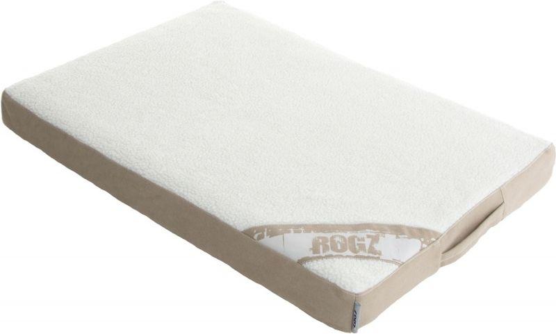 Лежак для собак Rogz Lounge Pod Flat, со съемным чехлом, цвет: бежевый, 129 x 86 x 12 см лежак для собак rogz lounge pod flat со съемным чехлом цвет бежевый 83 x 56 x 8 см