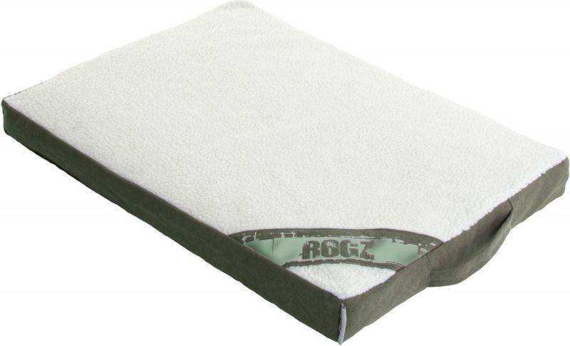 Лежак для собак Rogz Lounge Pod Flat, со съемным чехлом, цвет: оливковый, 129 x 86 x 12 см лежак для собак rogz lounge pod flat со съемным чехлом цвет бежевый 83 x 56 x 8 см