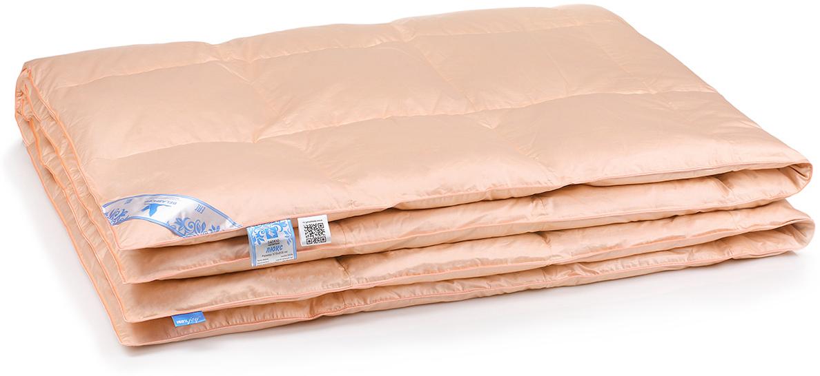 Одеяло Belashoff Люкс, кассетное, цвет: персиковый, 140 х 205 см mercury постельные принадлежности набор 4 штуки простыня с набивной чехол на одеяло 100