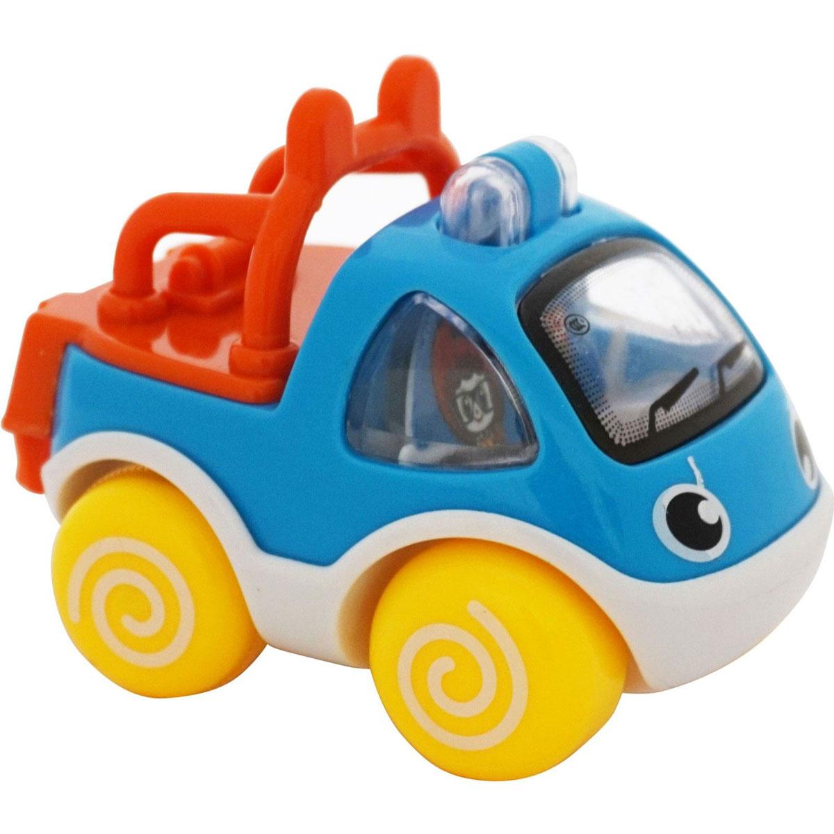 BebeLino Машинка инерционная Быстрые помощники цвет синий цена