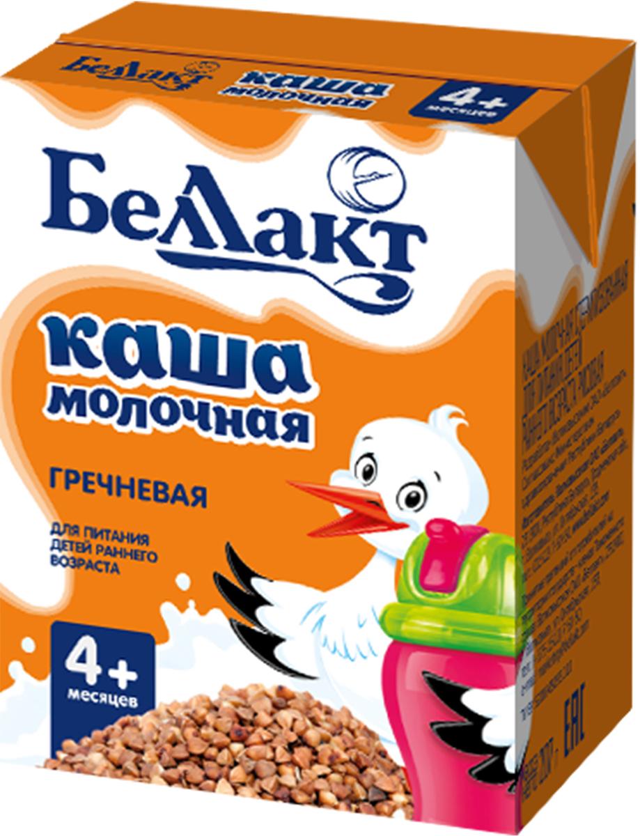 Беллакт Кашка молочная стерилизованная гречневая, 207 г