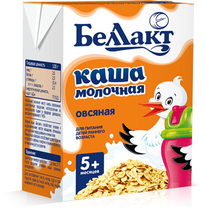Беллакт Кашка молочная стерилизованная овсяная, 207 г