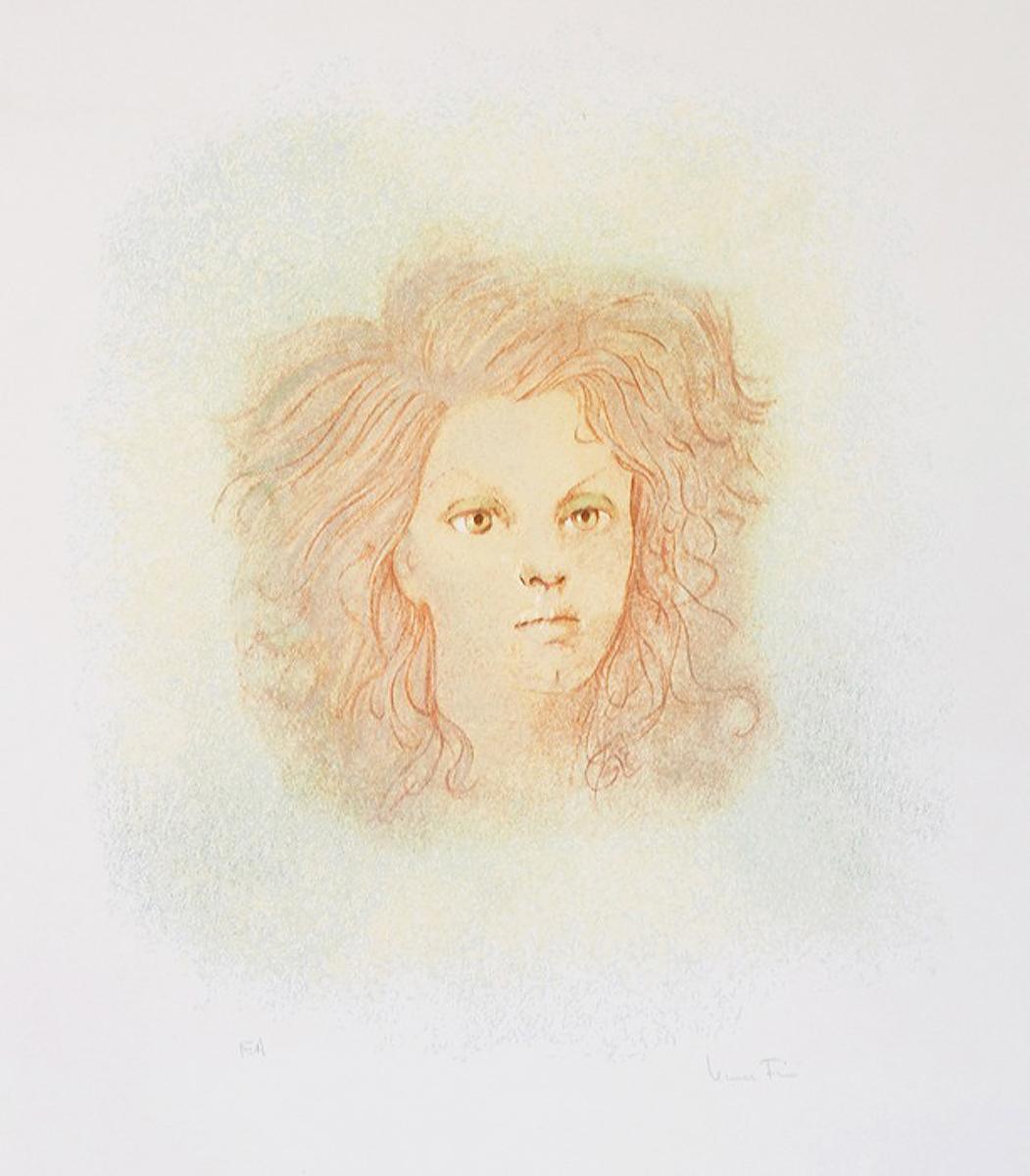 Цветная литография Портрет девушки. Леонор Фини. Франция, 1960-1970-е гг эсмеральда литография 83 100 эдуард гёрг франция 1960 гг