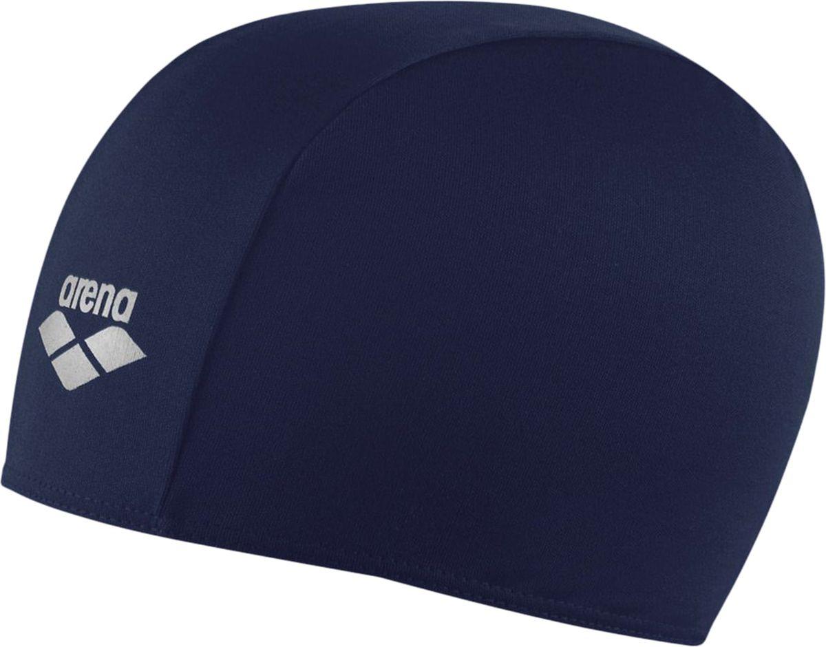 Шапочка для плавания Arena Polyester, цвет: темно-синийУТ-00002721Шапочка для плавания Polyester - это шапочка для активного отдыха из текстильного материала от всемирно известного бренда Arena. Она очень легкая, так как сделана из полиэстера, и не холодит голову, как силиконовые шапочки. Благодаря трехпанельной эргономичной форме ее легко надевать, при этом шапочка будет плотно держаться наготове, не спадая и не съезжая на глаза.