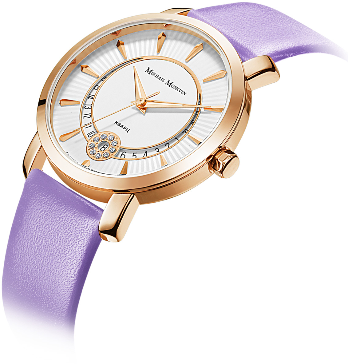Часы наручные женские Mikhail Moskvin, цвет: золотистый, фиолетовый. 1253A3L2-12 Mikhail Moskvin
