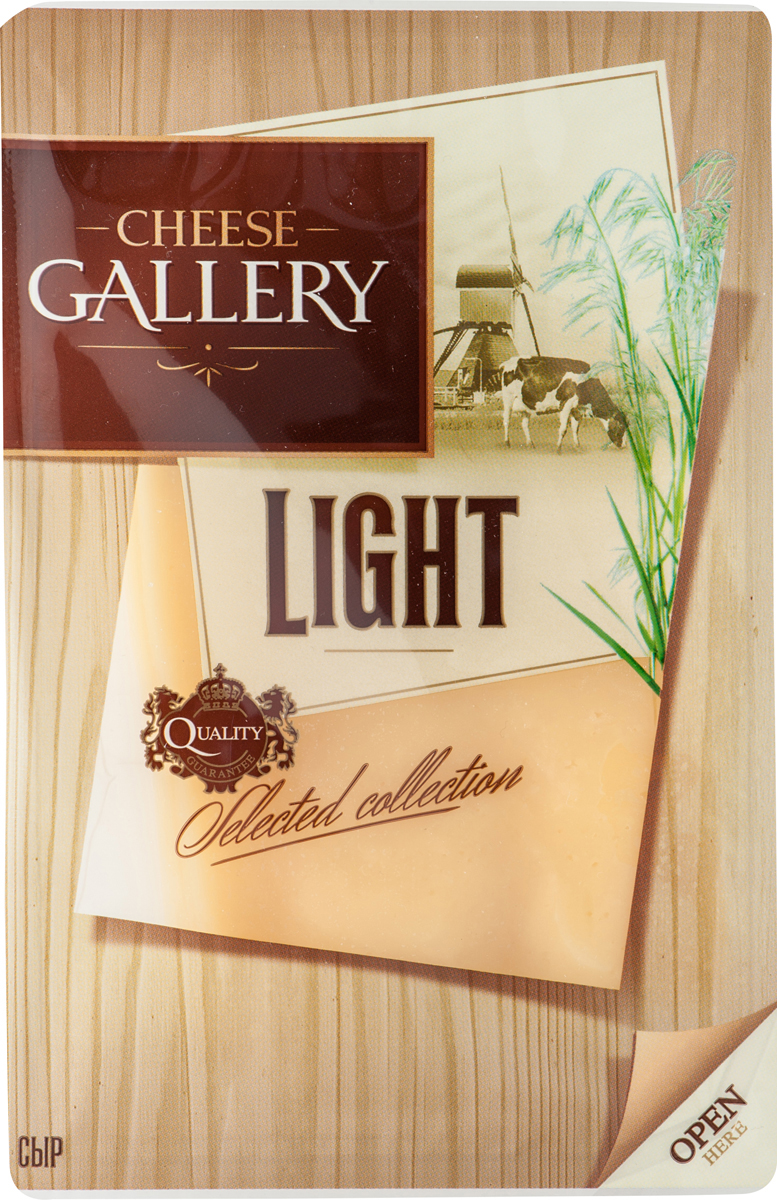 Cheese Gallery Сыр Лайт, 20%, нарезка, 150 г