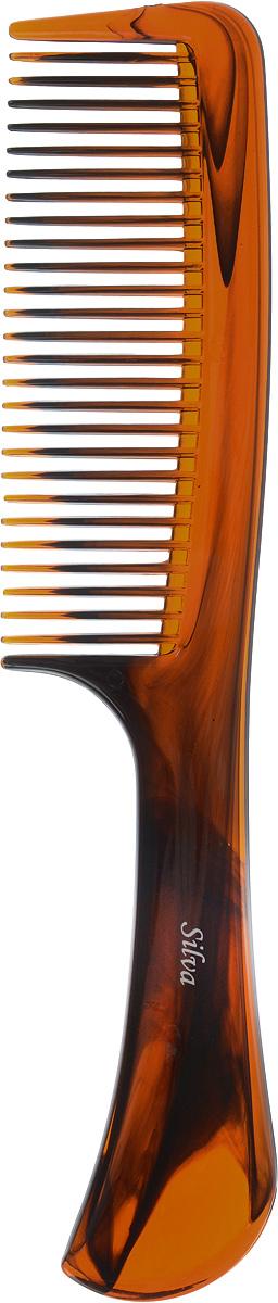 SilvaРасческа для волос с ручкой, цвет:  коричневый Silva