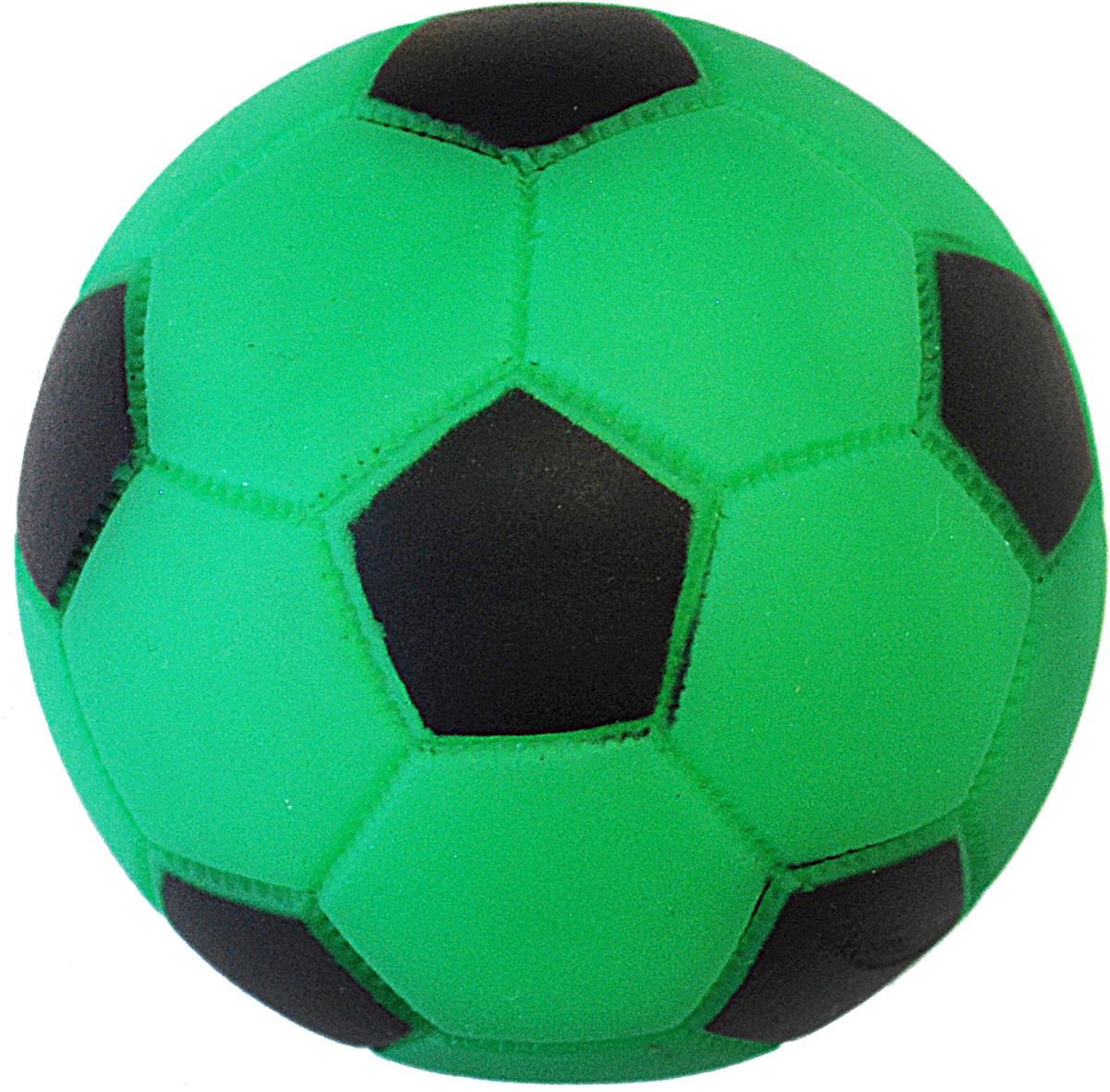 Игрушка для собак Уют Мяч футбольный, 7 см игрушка для собак уют мяч футбольный цвет белый черный 7 см
