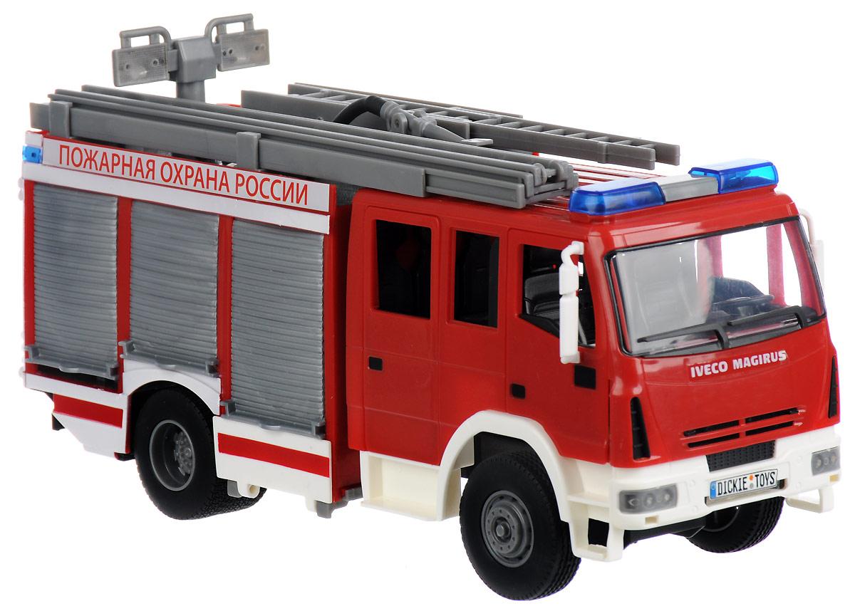 Dickie Toys Пожарная машина с водой цвет белый красный