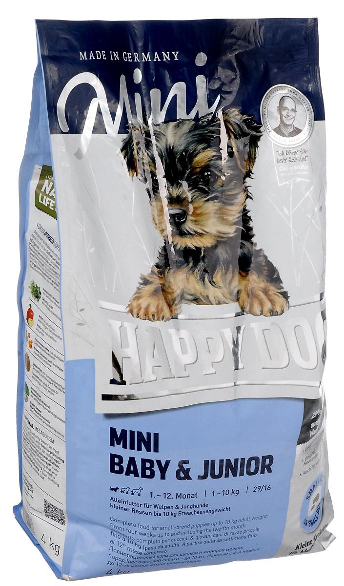 """Корм сухой Happy Dog """"Mini Baby & Junior"""" для щенков мелких пород, 4 кг"""