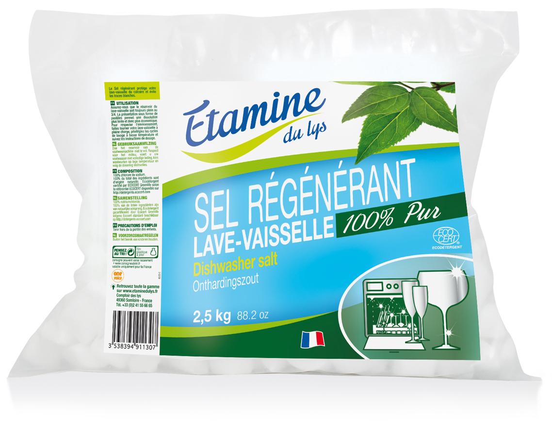 Соль для посудомоечных машин Etamine du Lys 25 кг