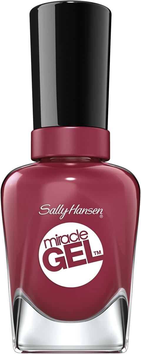Sally Hansen Гель Лак для ногтей Miracle Gel, тон №496 Beet Pray Ove, 14 мл sally hansen гель лак для ногтей miracle gel тон 256 proper p rose 14 мл