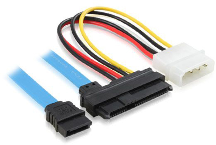 GCR GC-ST303, Blue Black Yellow комплект кабелей SATA / SAS / Molex 4pin universal sata 3 0 4 pin to 15 pin power cable deconcentrator black blue multi colored