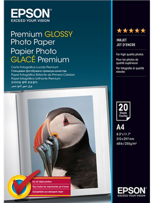 Epson Premium Glossy Photo 255/A4/20л, глянцевая C13S041287