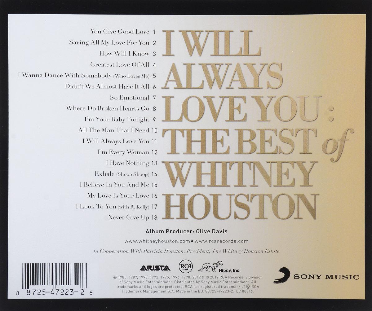Whitney Houston. I Will Always Love You. The Best Of Whitney Houston