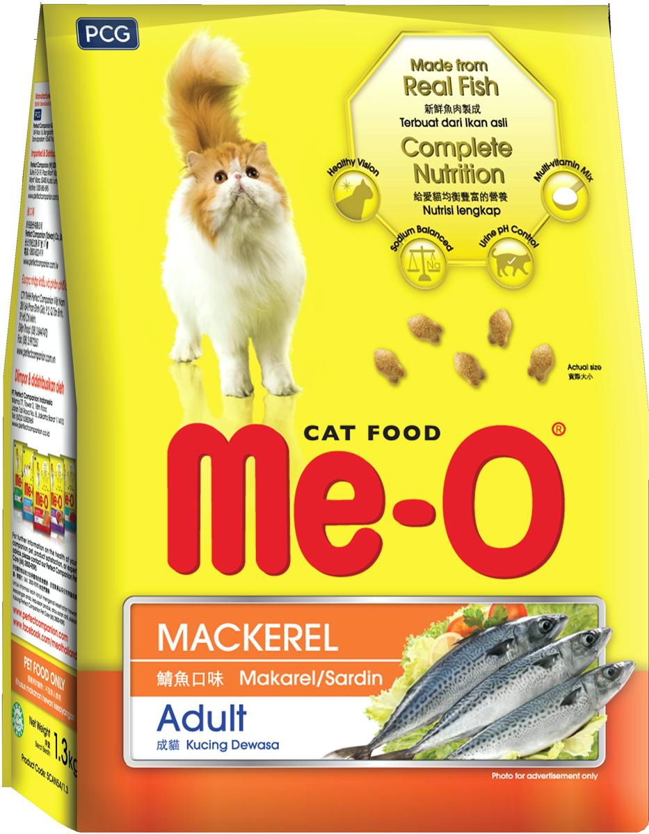 Корм сухой для кошек и котов PCG Ме-О, скумбрия, 7 кг корм сухой для кошек pcg ме о gold для персидских и длинношерстных 400 г