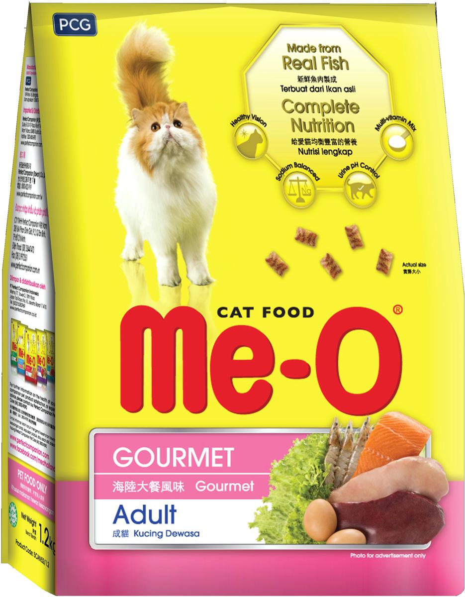 Корм сухой для кошек и котов PCG Ме-О. Деликатес, 7 кг корм сухой для кошек pcg ме о gold для персидских и длинношерстных 400 г