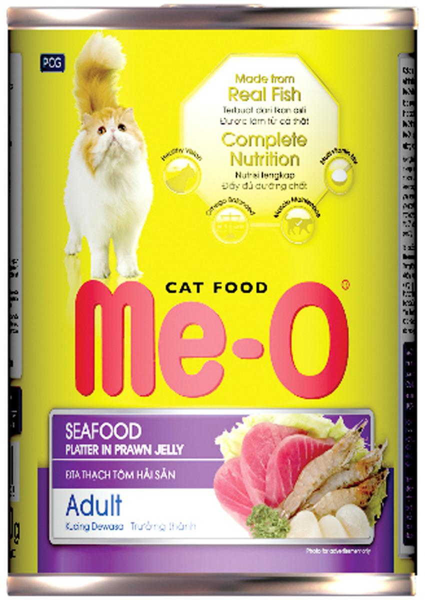 Фото - Корм консервированный для кошек PCG Ме-О, морепродукты, 400 г и серова рыба и морепродукты