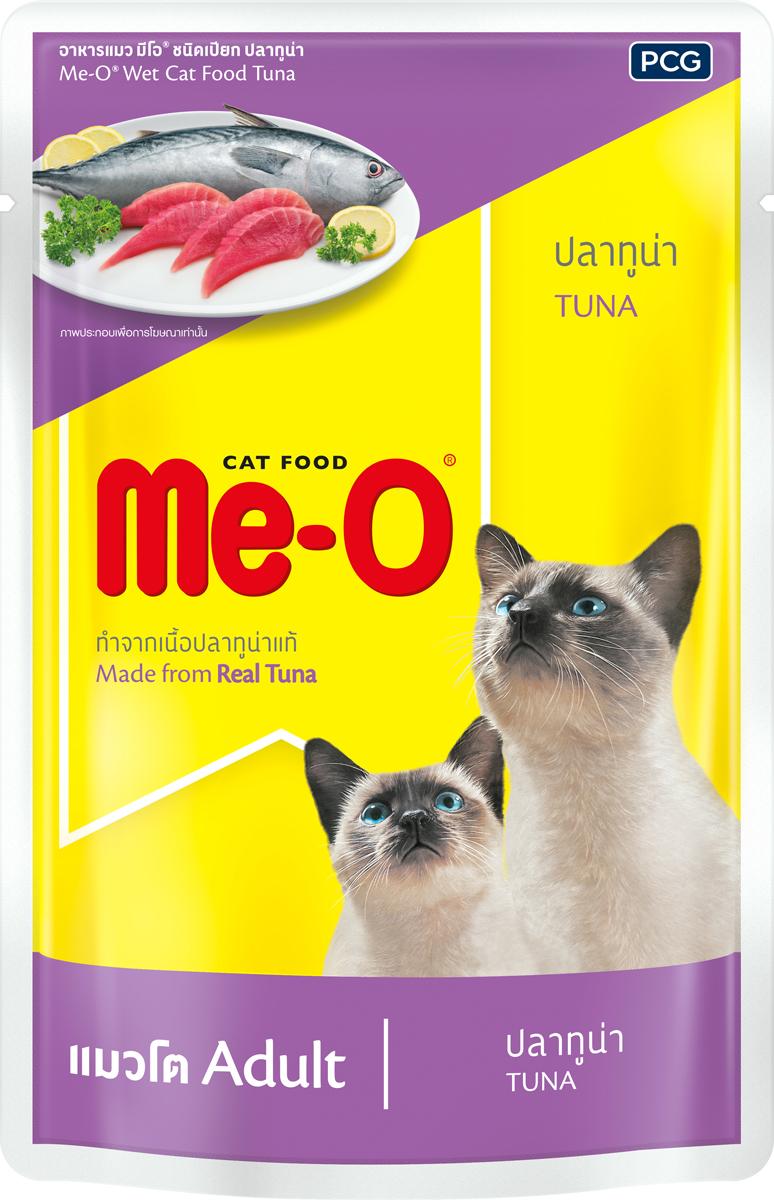 Паучи для кошек и котов PCG Ме-О, тунец в желе, 80 г паучи для кошек и котов pcg ме о сардина с курицей и рисом в желе 80 г