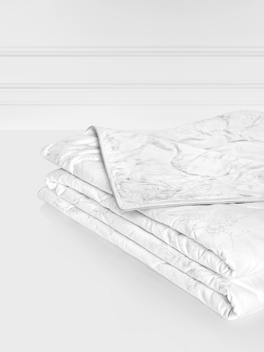 Одеяло Togas Лотос, наполнитель: лен, шелк, цвет: белый, 140 x 200 см наматрасник togas оптимум лайт наполнитель хлопок цвет белый 180 x 200 см