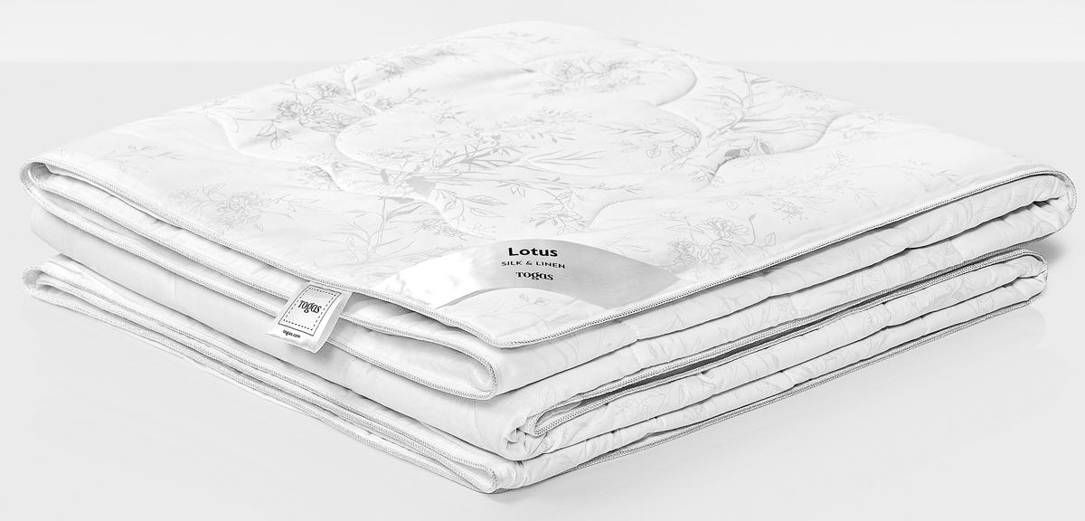 Одеяло Togas Лотос, наполнитель: лен, шелк, цвет: белый, 200 x 210 см цена