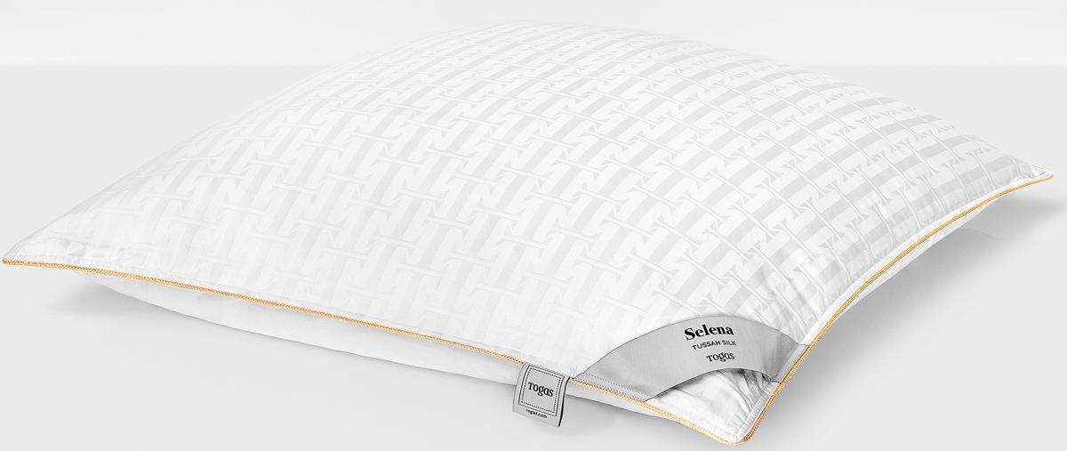 Подушка Togas Селена, наполнитель: шелк, цвет: белый, 50 x 70 см наматрасник togas оптимум плюс наполнитель хлопок цвет белый 180 x 200 см