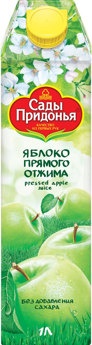 Сады Придонья Сок яблочный прямого отжима осветленный, 1 л