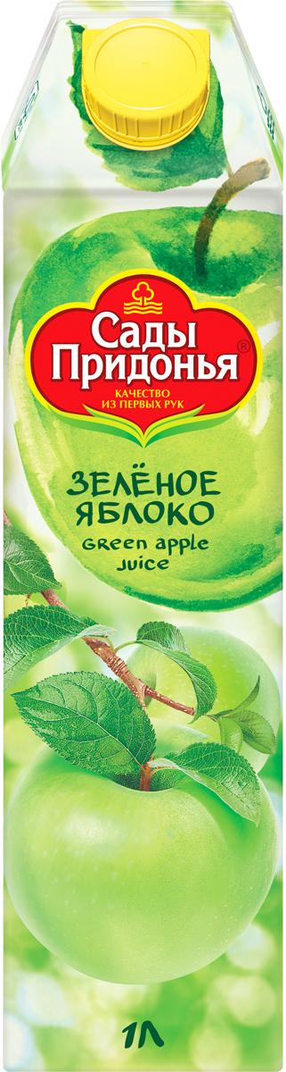 Сады Придонья Сок яблочный из зеленых яблок осветленный восстановленный, 1 л