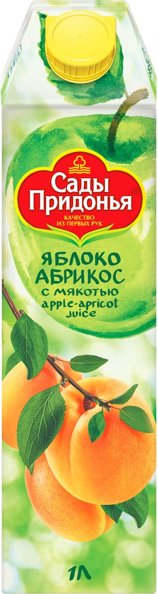 Сады Придонья Сок яблочно-абрикосовый с мякотью восстановленный, 1 л