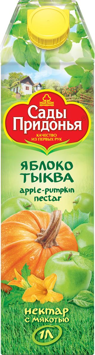 Сады Придонья Нектар яблочно-тыквенный с мякотью, 1 л