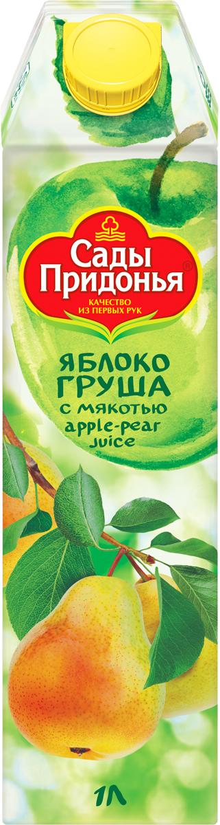 Сады Придонья Сок яблочно-грушевый с мякотью восстановленный, 1 л