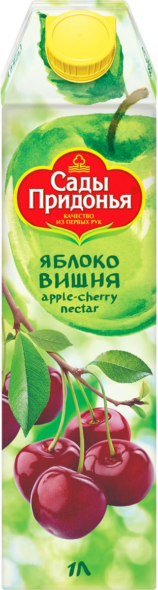 Сады Придонья Нектар яблочно-вишневый, 1 л barinoff нектар вишневый 0 25 л