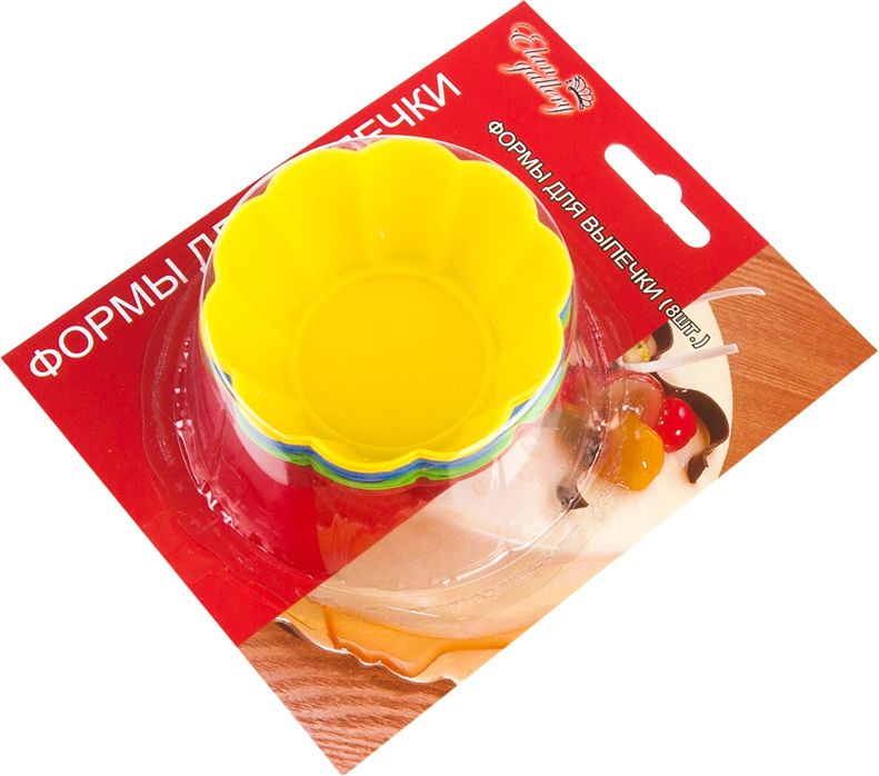 Набор форм для кексов Elan Gallery Цветок 7 х 7 х 3 см 8 шт