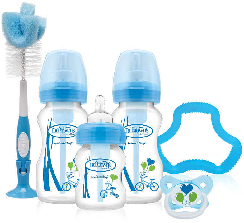 Dr. Brown's Подарочный набор Options цвет синий 8 предметов