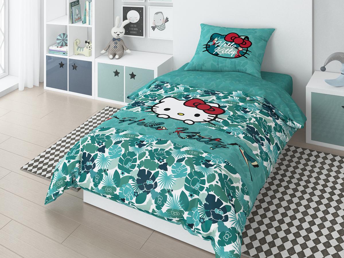 Комплект белья Hello Kitty Tropic, 1,5-спальный, наволочки 50х70 см детский поильник hello kitty ktxg01 hellokitty