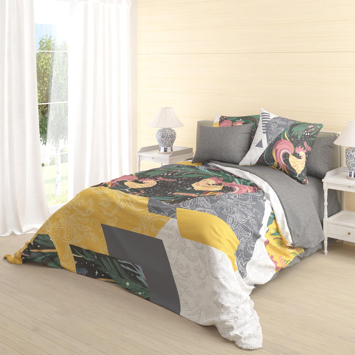 Комплект белья Волшебная ночь Zarya, 2-спальный, наволочки 70х70 см комплект белья волшебная ночь divo 2 спальный наволочки 70х70 см