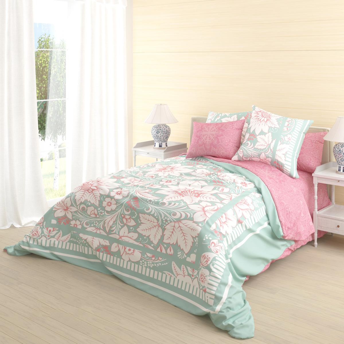 Комплект белья Волшебная ночь Biruza, 2-спальный, наволочки 70х70 см комплект белья волшебная ночь divo 2 спальный наволочки 70х70 см
