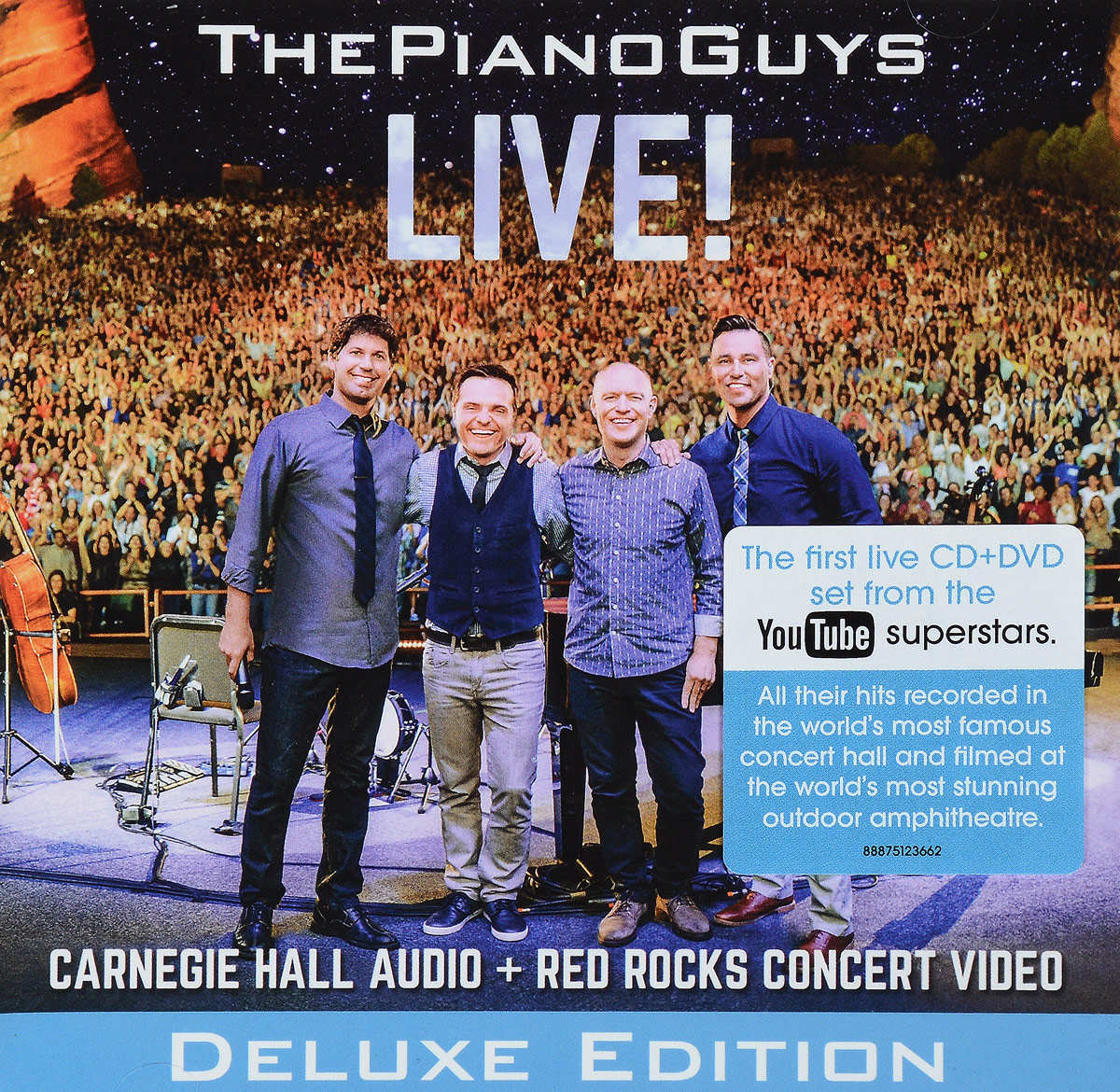 The Piano Guys The Piano Guys. Live! (Deluxe Edition) (CD + DVD) the piano guys the piano guys uncharted deluxe edition cd dvd