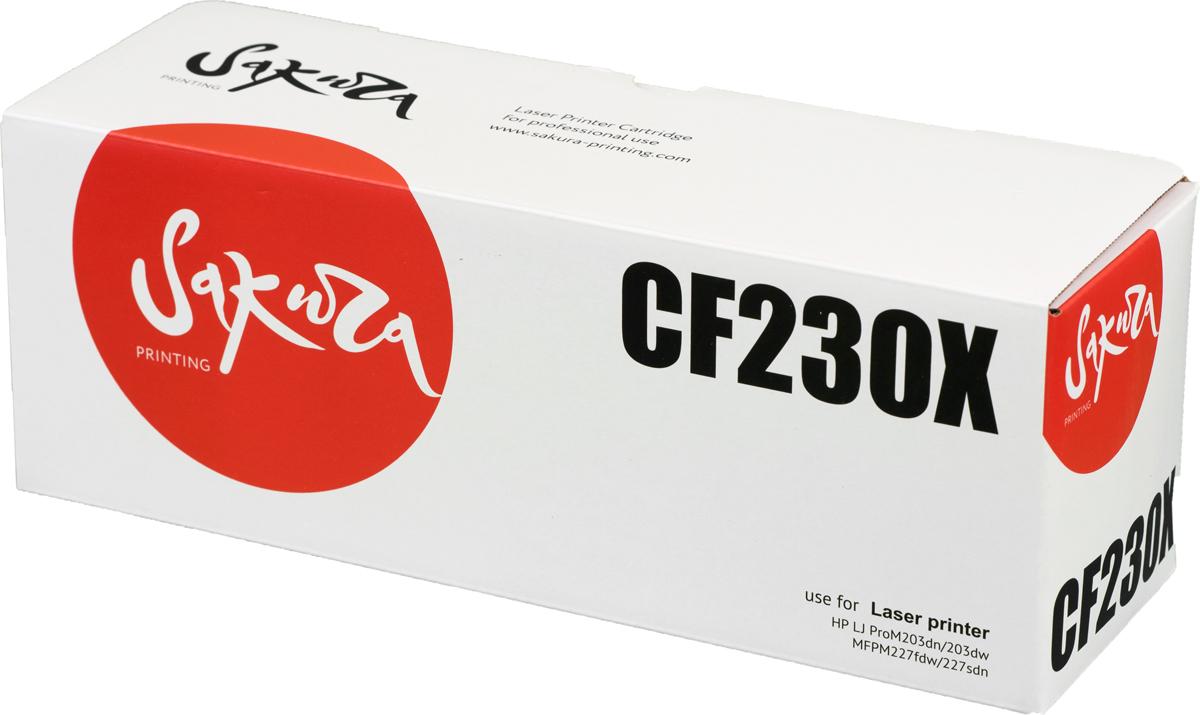 Sakura CF230X, Black тонер-картридж для HP LJ Pro m203dn/m203dw/m227dw/m227fdw/m227sdn
