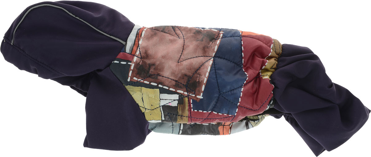 """Комбинезон для собак GLG """"Столица. Куртка-джинсы"""", унисекс, цвет: темно-синий, коричневый, бордовый. Размер S"""